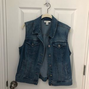 Style&Company| Denim Vest with lots of pockets! M